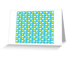 Sun & Clouds by Everett Co Greeting Card