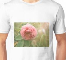 Close up photo of a pink rose Unisex T-Shirt