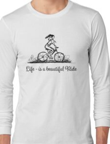 Girl cycling Long Sleeve T-Shirt