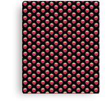 Strawberry Delight Black Canvas Print