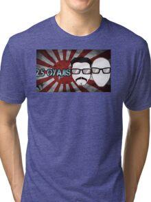 2.5 Oyaji's Rising Sun Flag 01 Tri-blend T-Shirt