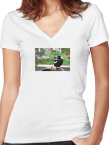 Backyard Magpie #8 of 8 Women's Fitted V-Neck T-Shirt