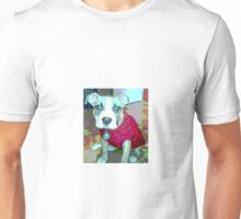 Topopo puppy in her red sweater Unisex T-Shirt