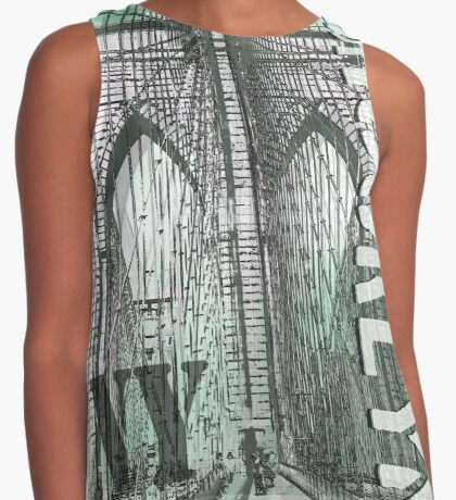 brooklyn bridge Contrast Tank