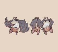 Three greater mouse-eared bats by HenriekeG