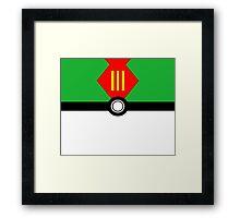 Poké ball GO! LURE BALL green Framed Print