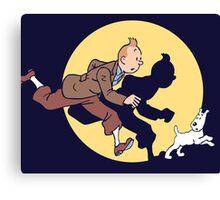 Tintin & Snowy Canvas Print