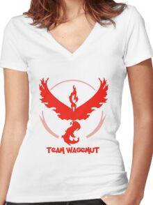 Team Wagemut - Pokemon Go Women's Fitted V-Neck T-Shirt
