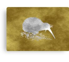 Grunge Kiwi Bird Canvas Print