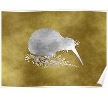 Grunge Kiwi Bird Poster