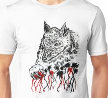 Angry Wolf Sketch 2 Unisex T-Shirt