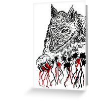 Angry Wolf Sketch 2 Greeting Card