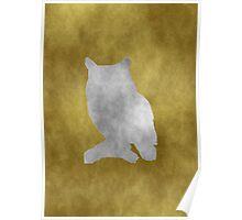 Grunge owl Poster