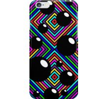 Black shiny balls and colored diamonds. iPhone Case/Skin