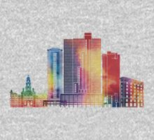 Fort Worth landmarks watercolor poster One Piece - Short Sleeve
