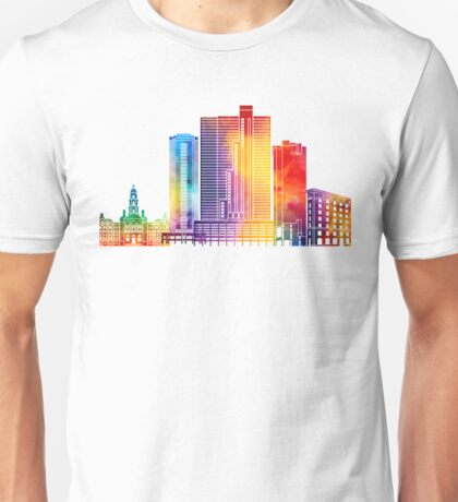Fort Worth landmarks watercolor poster Unisex T-Shirt