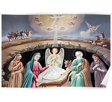 Assyrian Nativity Painting Poster