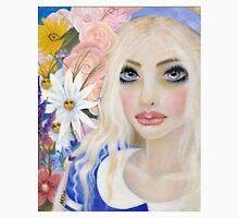 Alice in the Garden of Live Flowers, Original Art, Kim Turner Art Unisex T-Shirt