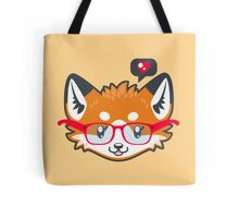Nerdy Knitwear FOX - head only Tote Bag