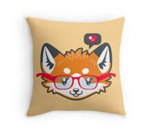 Nerdy Knitwear FOX - head only Throw Pillow