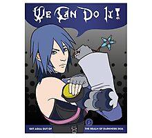 Aqua Can Do It! Photographic Print
