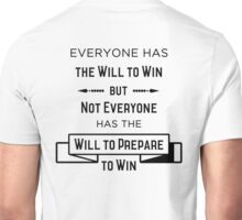 The Will to Win BJJ Shirt White Unisex T-Shirt