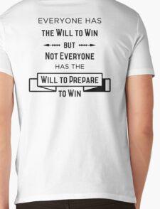 The Will to Win BJJ Shirt White Mens V-Neck T-Shirt