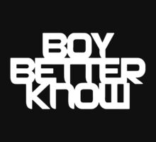 Boy Better Know - Chest Placement (white) One Piece - Long Sleeve