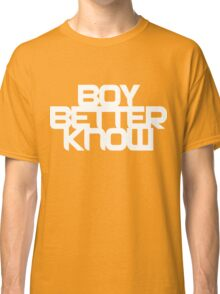 Boy Better Know - Chest Placement (white) Classic T-Shirt