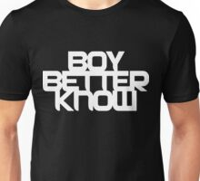 Boy Better Know - Chest Placement (white) Unisex T-Shirt