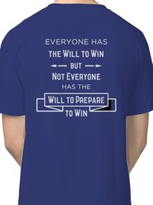 The Will to Win BJJ Shirt Blue, Purple, Brown Classic T-Shirt