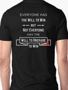 The Will to Win BJJ Shirt Black Unisex T-Shirt