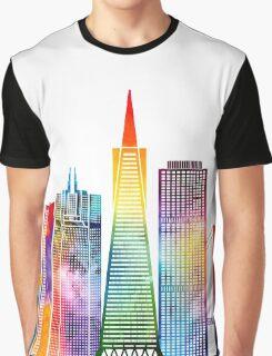 San Francisco landmarks watercolor poster Graphic T-Shirt