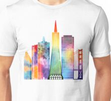 San Francisco landmarks watercolor poster Unisex T-Shirt