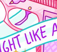 FIGHT LIKE A GIRL TUMBLR Sticker