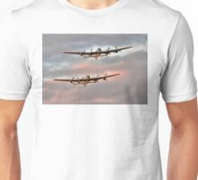 Two Lancasters in an Evening Formation Unisex T-Shirt