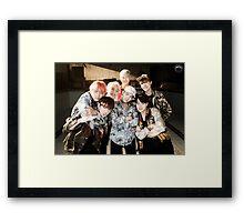 BTS/Bangtan Sonyeondan - Fire Group Photo Framed Print