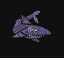 Cool Artistic Blue Shark Patterns Abstract Unisex T-Shirt