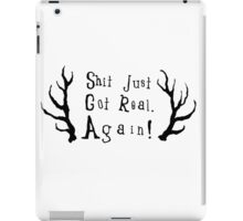 Hunt for the Wilderpeople, Shit Just Got Real Again! iPad Case/Skin