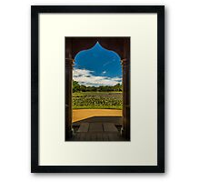 Framed lake of water lilies Framed Print