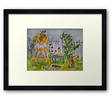 Start The Day Slow Then Taper Off Framed Print