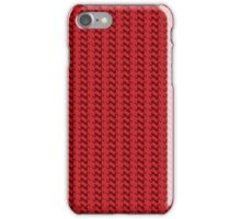Red knitted pattern.  iPhone Case/Skin