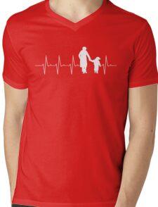 Dad Daughter T-shirt Mens V-Neck T-Shirt