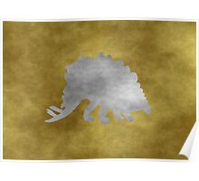 Grunge stegosaurus Poster
