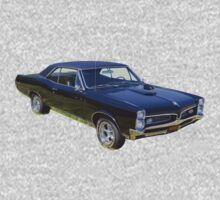 Black 1967 Pontiac GTO Muscle Car Kids Tee