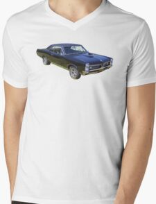 Black 1967 Pontiac GTO Muscle Car Mens V-Neck T-Shirt