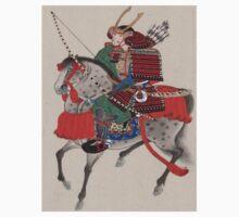 Japanese Samurai on Horseback Kids Tee