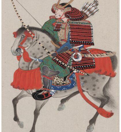 Japanese Samurai on Horseback Sticker