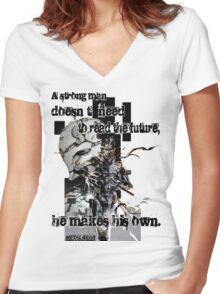 The Snake Women's Fitted V-Neck T-Shirt