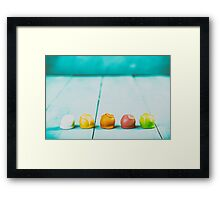 Colorful Fondant Candies Framed Print